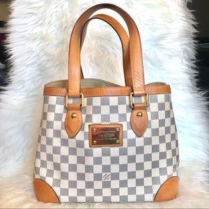 Louis Vuitton Hampstead PM Damier Azur Canvas Bag